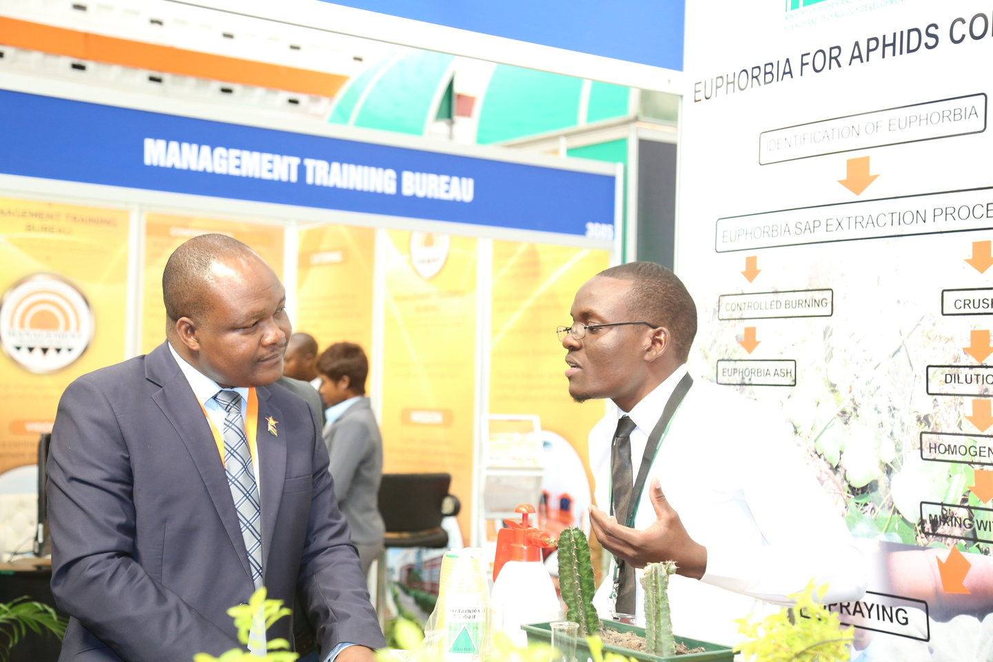 High and Tertiary Education, Science and Technology Development Deputy Minister Dr Godfrey Gandawa visited our stand